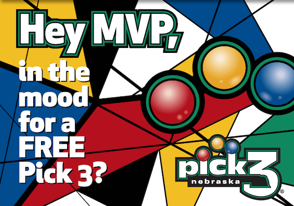 Hey MVP, in the mood for a free Pick 3?