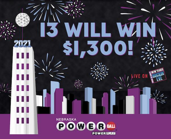13 will win $1300! Nebraska Powerball