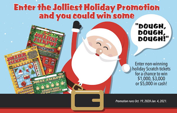 Enter the jolliest holiday promotion and you could win some dough, dough, dough!