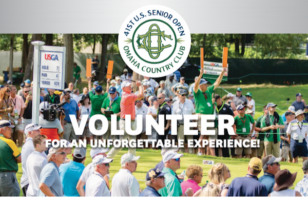 41st US Senior Open - Omaha Country Club. Volunteer for an unforgettable experience!